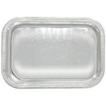"Winco CMT-2014 Rectangular Chrome-Plated Serving Tray 20"" x 14"""