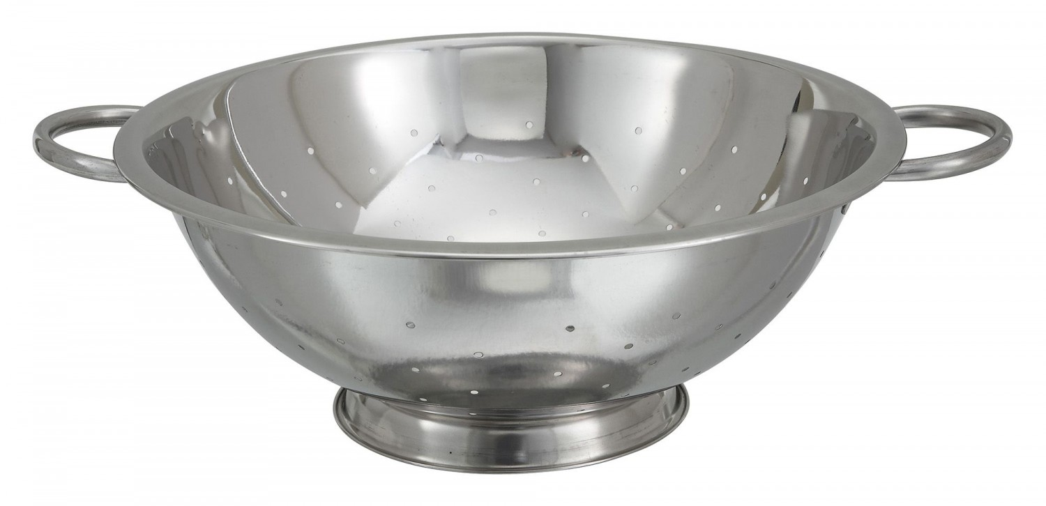 Winco COD-14 Stainless Steel Colander 14 Qt.