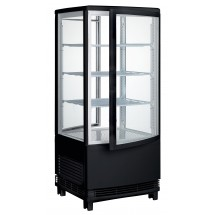 Winco CRD-1K Black Countertop Refrigerated Beverage Display