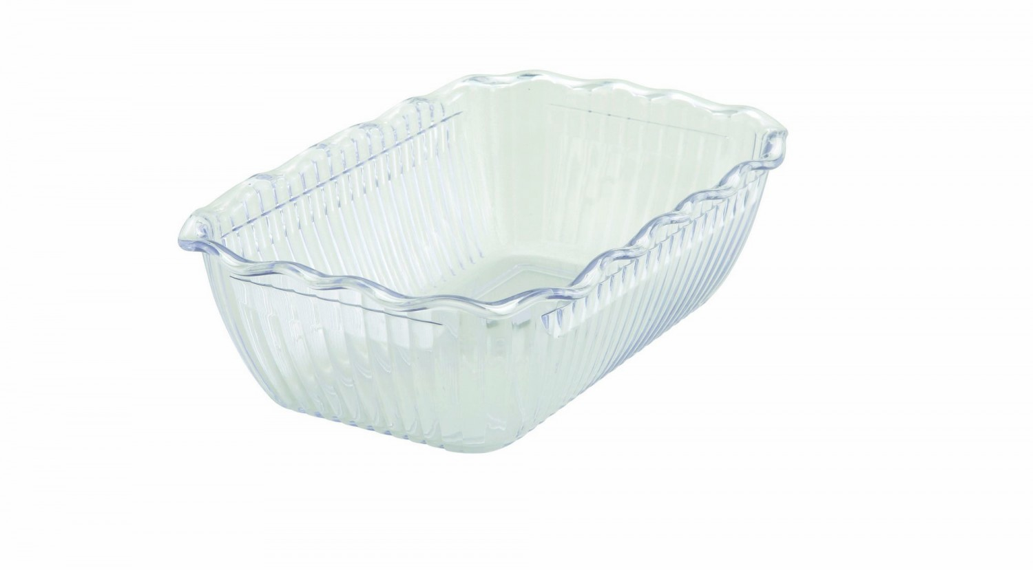 "Winco CRK-10C Clear Food Storage Container / Crock 10"" x 7"" x 3"""