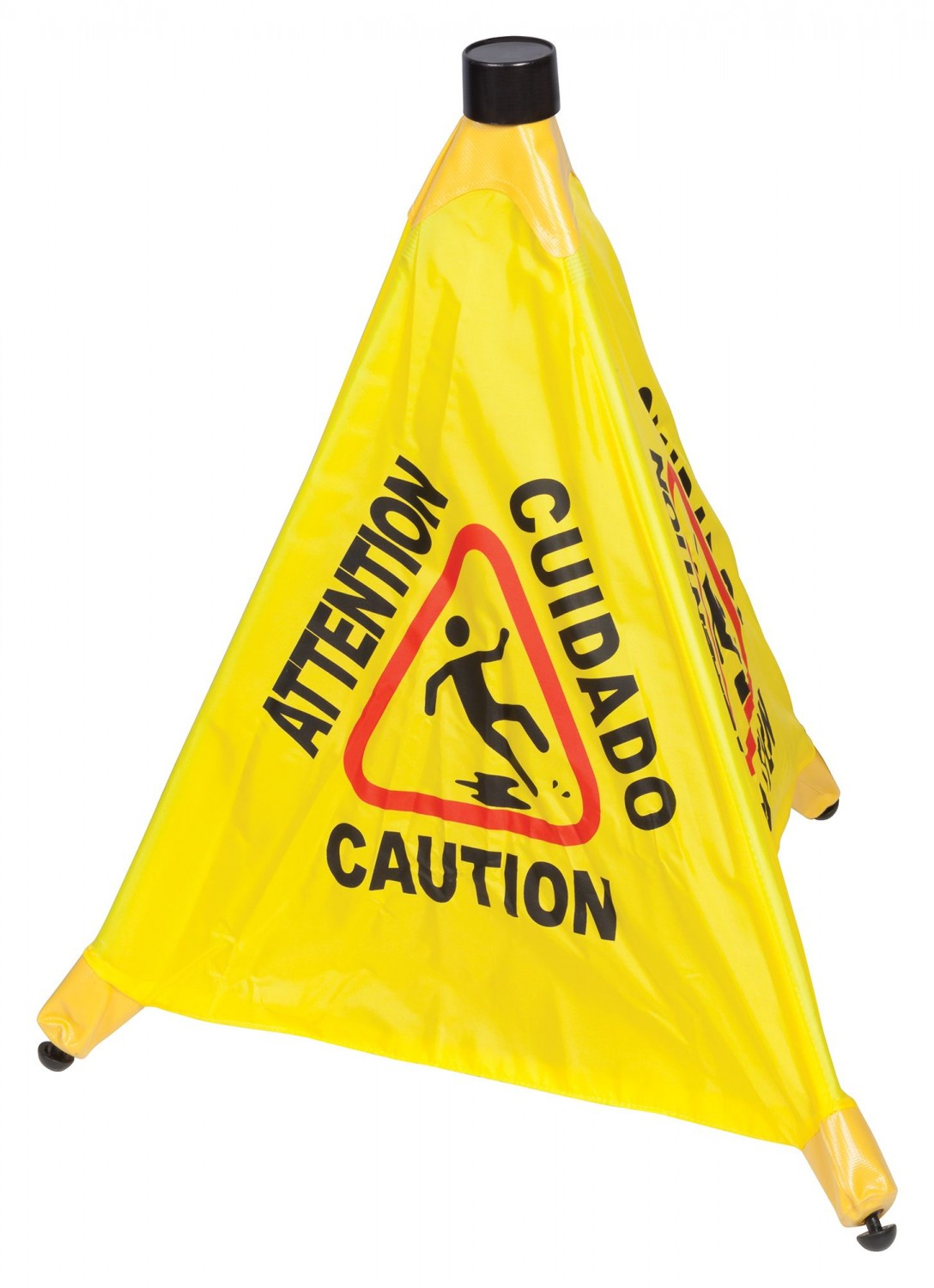 Winco CSF-4 4-Facet Wet Floor Caution Sign