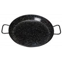 Winco CSPP-11E Enameled Carbon Steel Paella Pan 11""