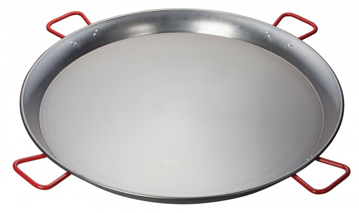 Winco CSPP-35 Polished Carbon Steel Paella Pan 35-1/2""
