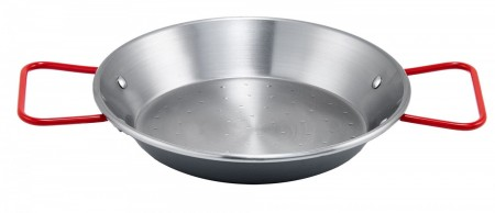 Winco CSPP-7 Polished Carbon Steel Paella Pan 7-7/8""