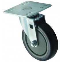 "Winco CT-44 Universal Caster Set, 5"" Wheel With 4"" x 4"" Plate - 2 Pack"