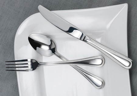Winco Continental 5-Piece Extra Heavy Weight Flatware Set - Service for 12