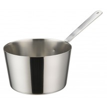 "Winco DCWB-103S Stainless Steel Mini Tapered Sauce Pan 4"" Dia x 2-3/8"" H"