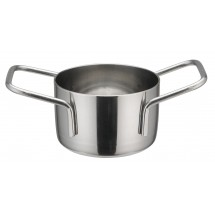 "Winco DCWE-101S Stainless Steel Mini Casserole 2-3/4"" Dia x 1-3/4"" H"