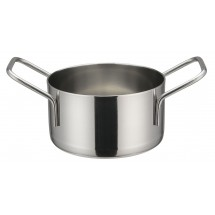 "Winco DCWE-103S Stainless Steel Mini Casserole 3-1/2"" Dia x 2"" H"
