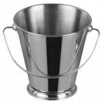 "Winco DDSA-107S Stainless Steel Mini Pail 5"" Dia x 5"" H"