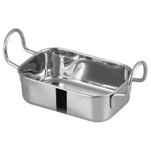 "Winco DDSB-103S Mini Stainless Steel Roasting Pan 5"" x 3-3/8"""