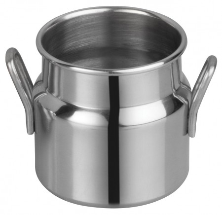 "Winco DDSD-101S Mini Stainless Steel Milk Can 2"" Dia x 2"" H"