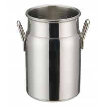 "Winco DDSD-102S Mini Stainless Steel Milk Can 2"" Dia x 3-1/8"" H"