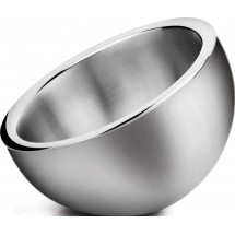 Winco DWAB-L Large Insulated Stainless Steel Angled Display Bowl 2-1/4 Qt.