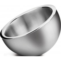 Winco DWAB-S Small Insulated Angled Stainless Steel Display Bowl 1-1/2 Qt.