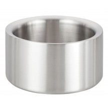 Winco DWCC-5 Solid Satin Finished Stainless Steel Double-Wall Wine Coaster 5""