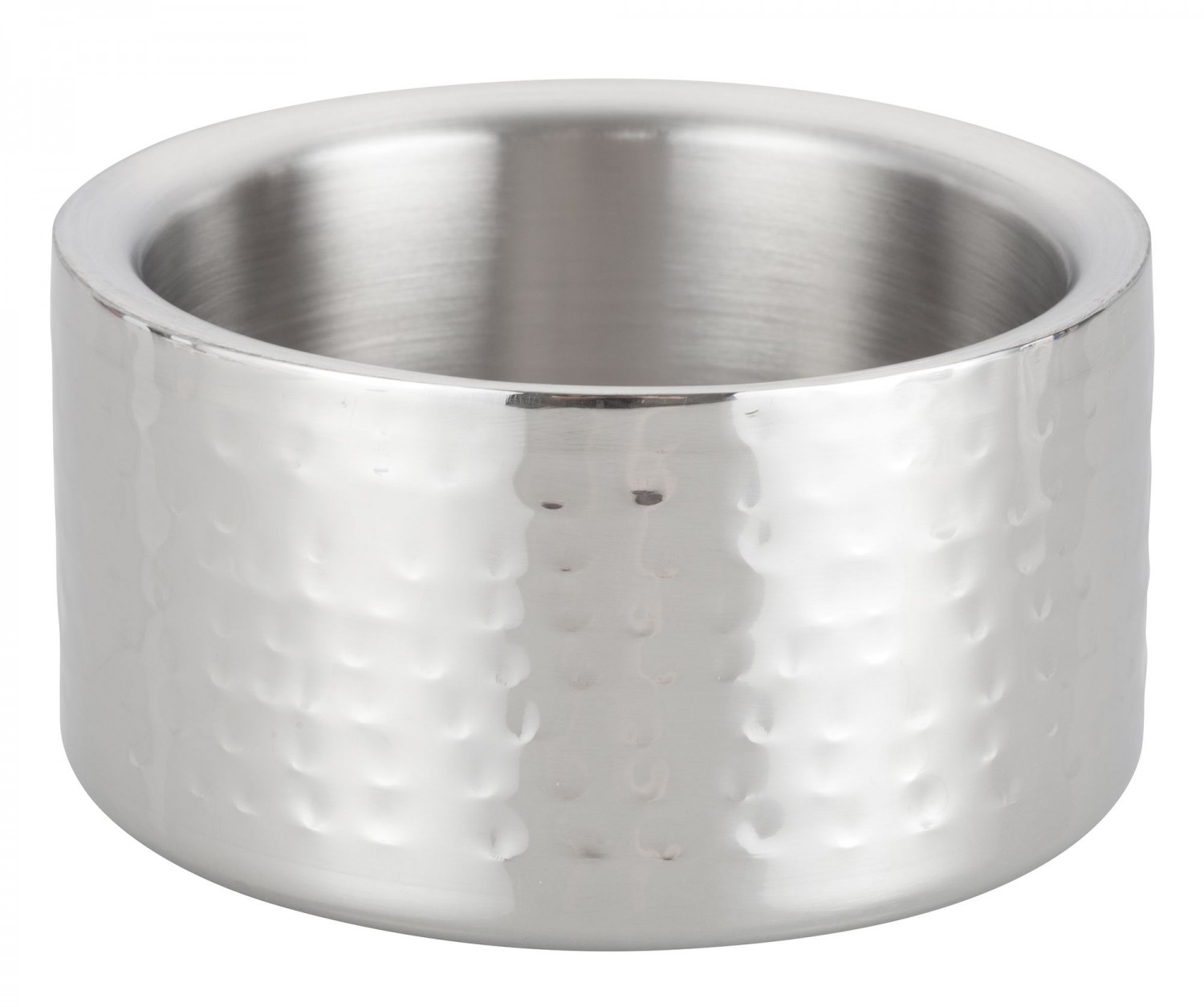 """Winco DWCC-5H Hammered Stainless Steel Double Wall Wine Coaster 5"""""""