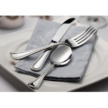 Winco Deluxe Pearl 5-Piece Extra Heavy Weight Flatware Set - Service for 12