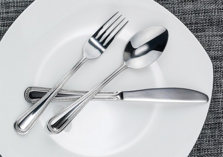 Winco Dots 5-Piece Heavy Weight Flatware Set - Service for 12