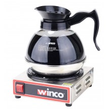Winco ECW-1 Single Burner Electric Coffee Warmer, 120V, 200W