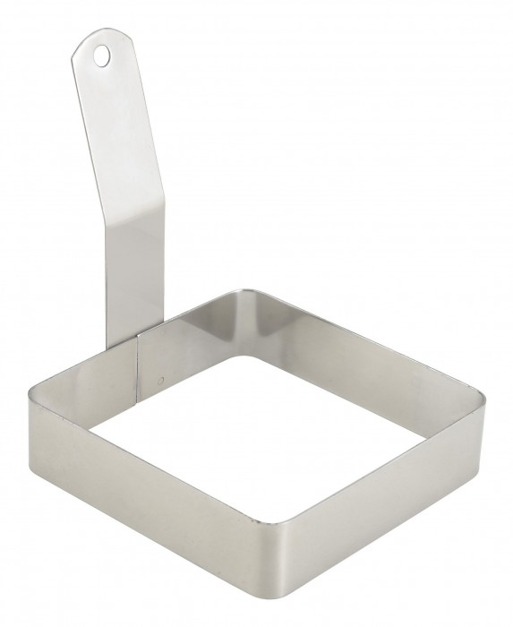 Winco EGRS-44 Square Egg Ring with Handle 4""