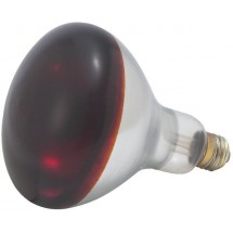 Winco EHL-BR 250 Watt Red Replacement Heat Lamp Bulb