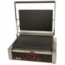 Winco EPG-1 Countertop Single Electric Italian Style Panini Grill