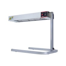 "Winco ESH-1 24"" Electric Infrared Strip Heater with Adjustable Stand 120V, 500W"