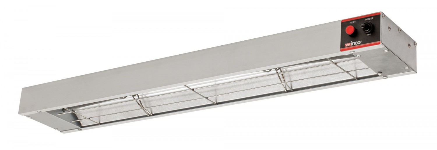 Winco ESH-36 36& Electric Infrared Strip Heater with Undermount Brackets, 850W