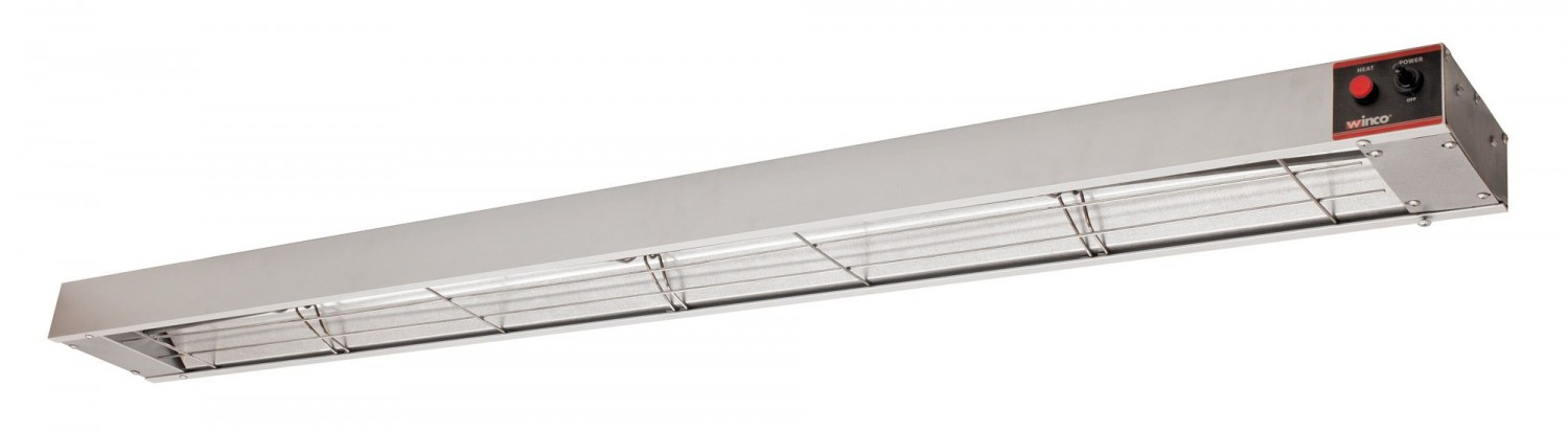 Winco ESH-60 60& Electric Strip Heater with Undermount Brackets, 1400W
