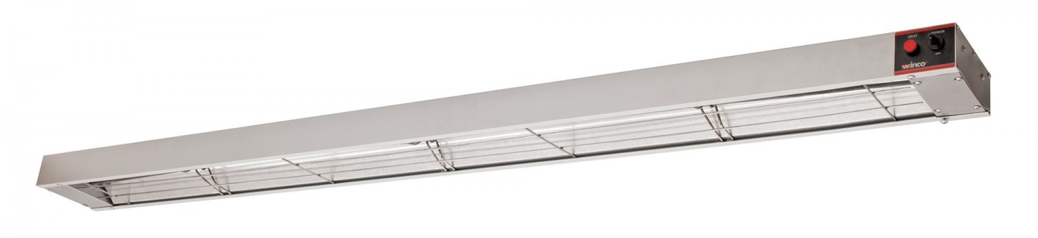 Winco ESH-72 72& Electric Infrared Strip Heater with Undermount Brackets, 1750W