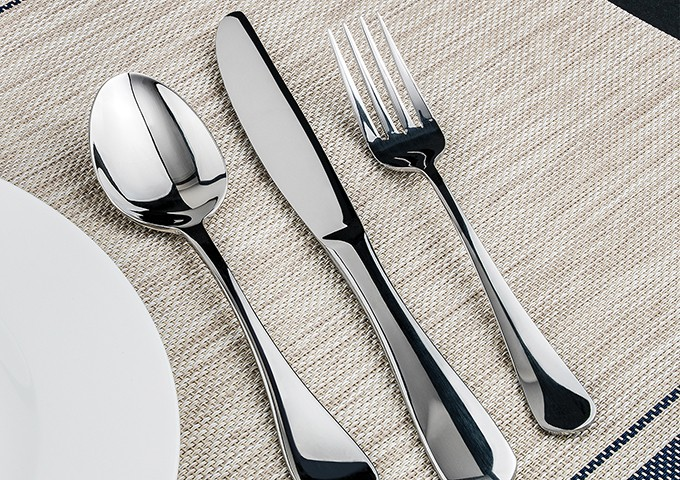 18-0 Stainless Steel Winco USA Winco 0026-06 12-Piece Elite Salad Fork Set