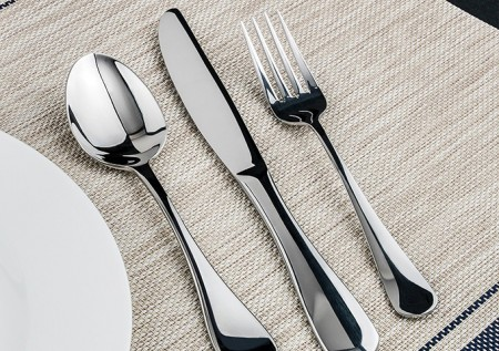 Winco Elite 5-Piece Heavy Weight Flatware Set - Service for 12