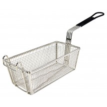 "Winco FB-05 Fry Basket with Black Handle 11"" x 5-3/8"" x 4-1/8"""