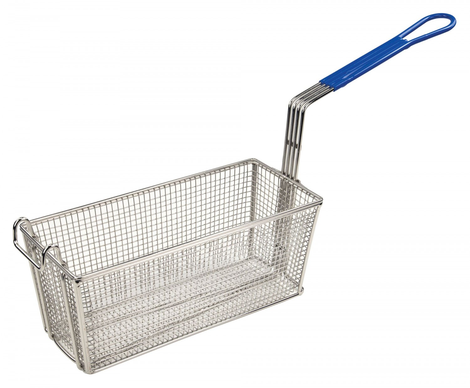 Winco FB-20 Heavy Duty Fry Basket with Blue Handle