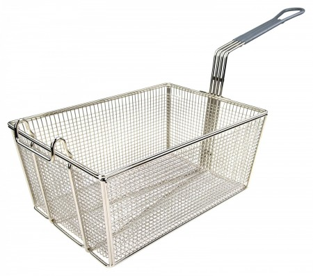 """Winco FB-35 Fry Basket with Gray Handle 13-1/4"""" x 9-1/2"""" x 6"""""""