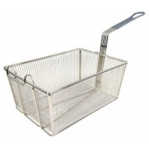 "Winco FB-35 Fry Basket with Gray Handle 13-1/4"" x 9-1/2"" x 6"""