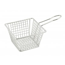 "Winco FBM-554S Square Stainless Steel Mini Deep Fry Basket 5"" x 5"" x 4"""