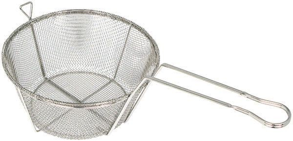 Winco FBRS-11 Round Mesh Wire Fry Basket 10-1/2&