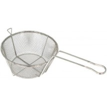 Winco FBRS-8 Round Nickel-Plated Fry Basket 8-1/2""