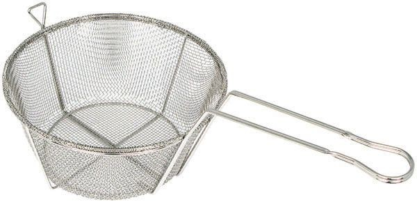 Winco FBRS-9 Round Mesh Wire Fry Basket 9-1/2""