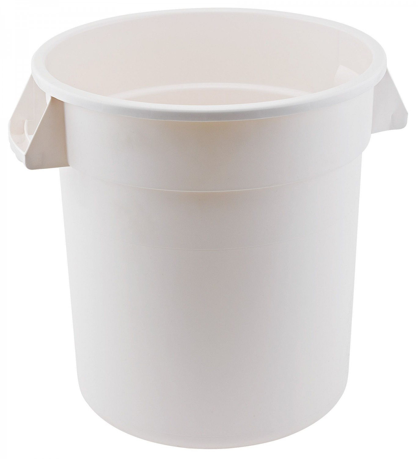 Winco FCW-20 Heavy Duty White Polypropylene Trash Can 20 Gallon