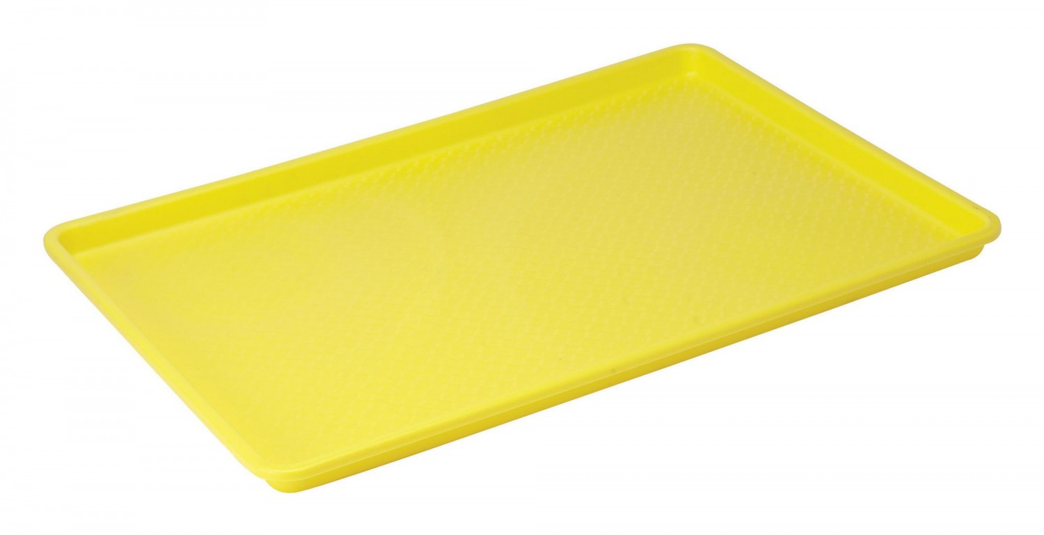 "Winco FFT-1826YL Yellow Plastic Fast Food Tray 18"" x 26"""
