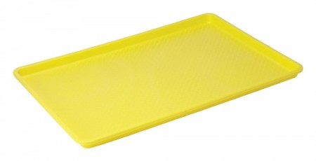 "Winco FFT-1826YL Plastic Fast Food Tray, Yellow 18"" x 26"""