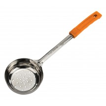 Winco FPPN-8 Prime One-Piece Stainless Steel Perforated Food Portioner, Orange 8 oz.