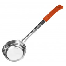 Winco FPSN-8 Prime One-Piece Stainless Steel Solid Food Portioner, Orange 8 oz.
