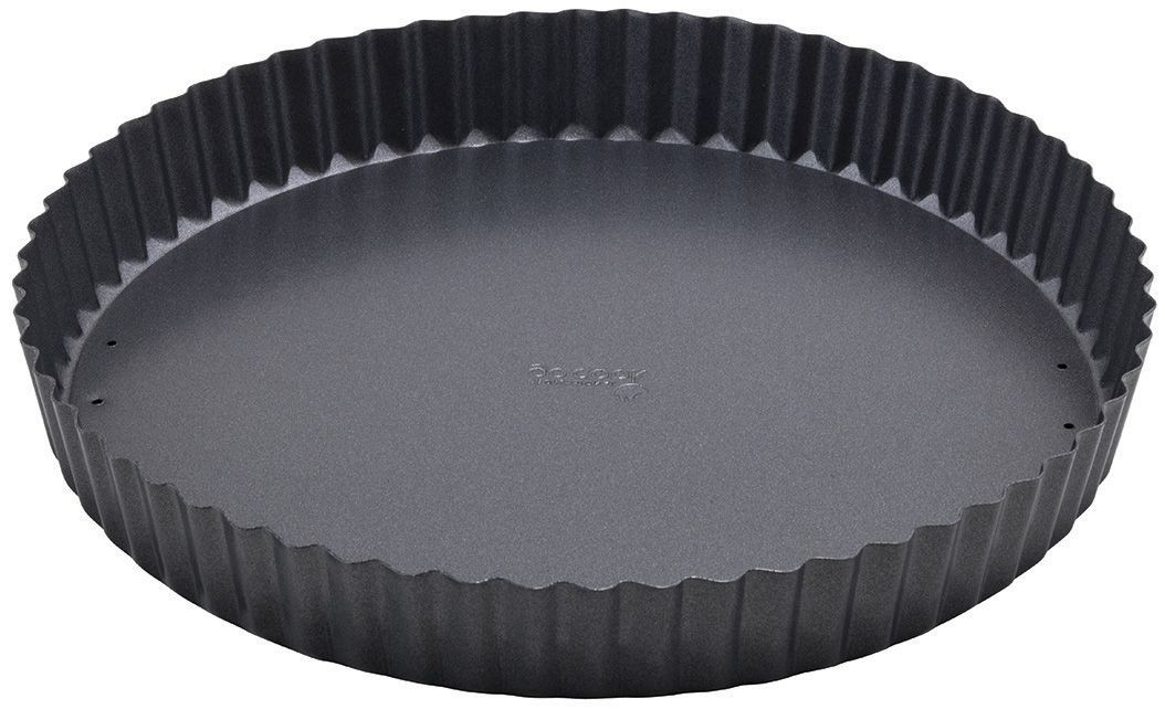 Winco FQP-10 Non-Stick Carbon Steel Quiche Pan 10""