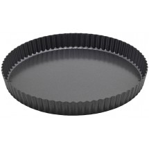Winco FQP-12 Non-Stick Carbon Steel Quiche Pan 12""
