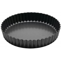 Winco FQP-8 Non-Stick Carbon Steel Quiche Pan 8""
