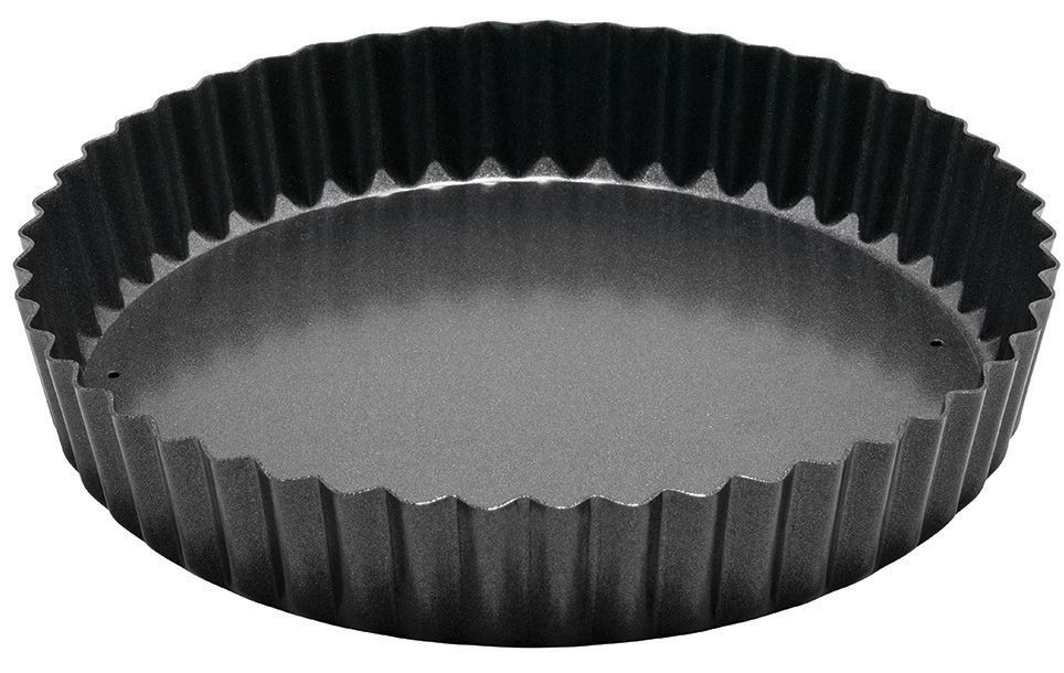 Winco FQP-8 Non-Stick Carbon Steel Quiche Pan 8